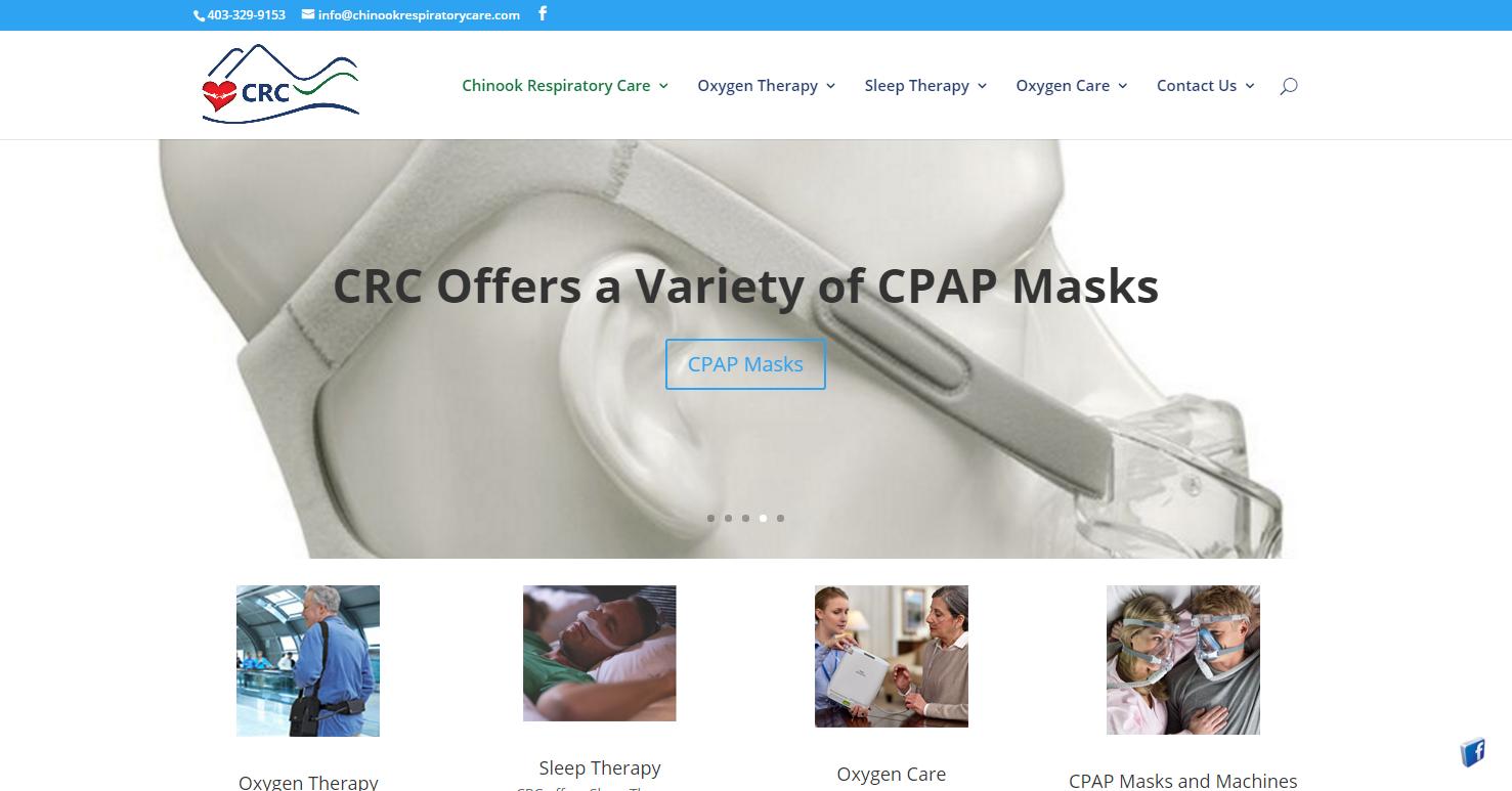 Chinook Respiratory Care design by darrenhutchison.com